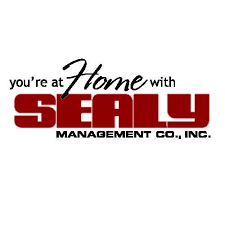 Sealy Management Co sponsor logo - with The Possum country station in Tuscaloosa
